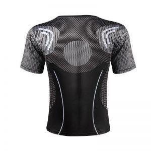 Iron Man In Black Suit Blue Arc Reactor Symbol New Design T-shirt - Superheroes Gears