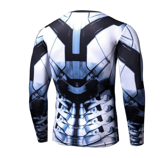 Iron Man Long Sleeves 3D Awesome Design Compression T-shirt - Superheroes Gears