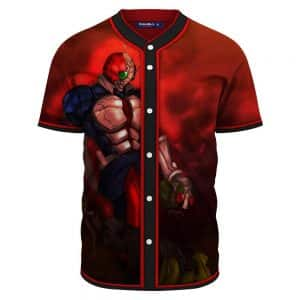 Red Head Kamen Rider Killing Black Kamen Rider Red Baseball Jersey