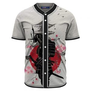 Japanese Samurai Warrior Temple & Sakura Baseball Jersey