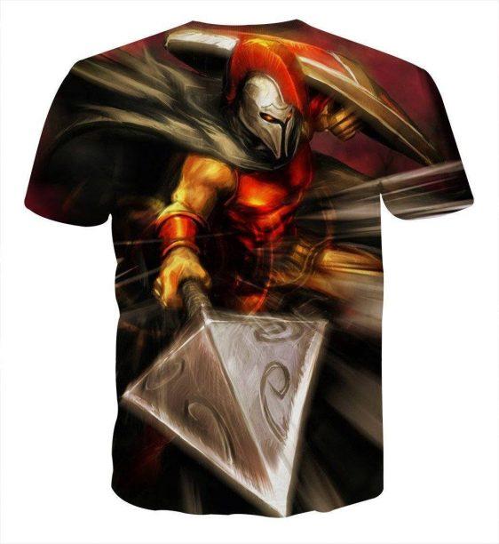 League of Legends Pantheon Artisan of War Fighter 3D Print LOL T-Shirt