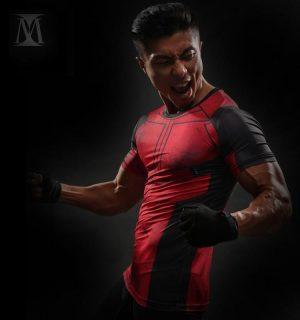 Superheroes Funny Deadpool Compression Slim Fit Short Sleeves T-Shirt - Superheroes Gears