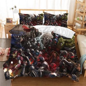 Marvel Avengers Age of Ultron Heroes vs Evils Bedding Set
