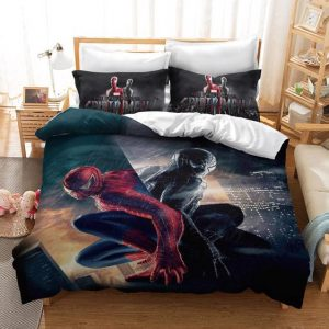 Marvel Spiderman and Black Spiderman Reflection Bedding Set
