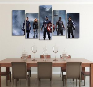 Marvel Captain America Civil War Character 5pcs Canvas Print