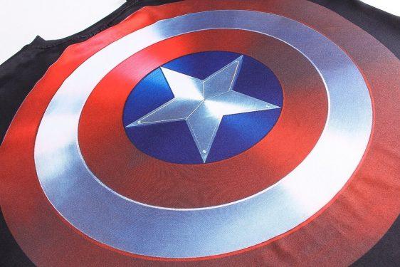 Marvel Captain America Long Sleeves Design Workout T-shirt