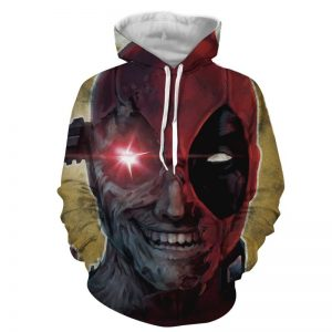 Marvel Crazy Deadpool Lunatic Wade Winston Wilson Red Hoodie