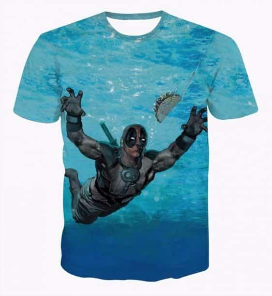 Marvel Deadpool Chase Tacos Mexico Food Hero Theme T-Shirt