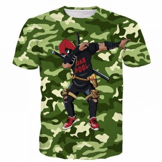 Marvel Deadpool Dab Dance Posture Camo Pattern Dope Design T-Shirt