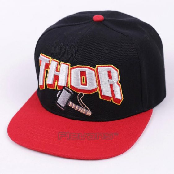 Marvel Super Hero Thor Cool Black and Red Streetwear Snapback