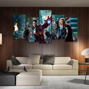 Marvel Superhero The Avengers 5pcs Wall Art Canvas Print