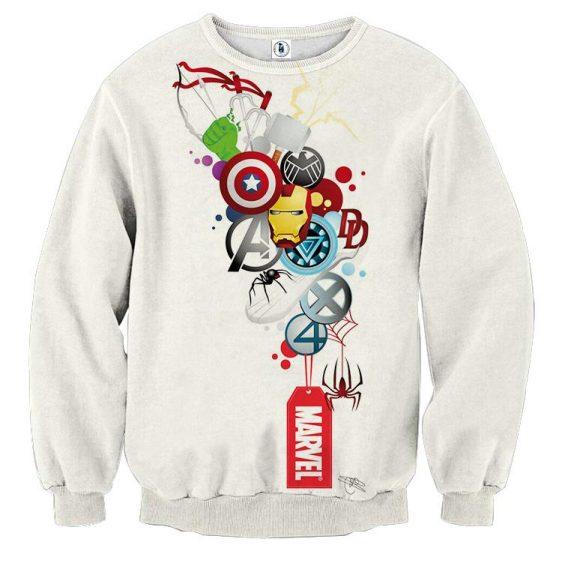 Marvel The Avengers Iron Man Symbols Dope Style Sweatshirt