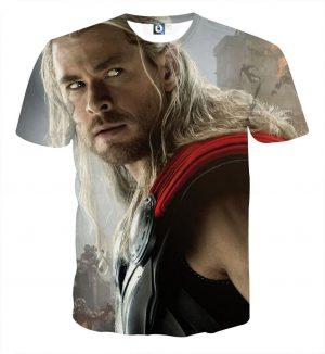 Marvel The Avengers Thor Portrait Unique 3D Print T-Shirt - Superheroes Gears