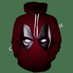 Marvel Wade Wilson Deadpool Red Suit Mask Costume 3D Hoodie