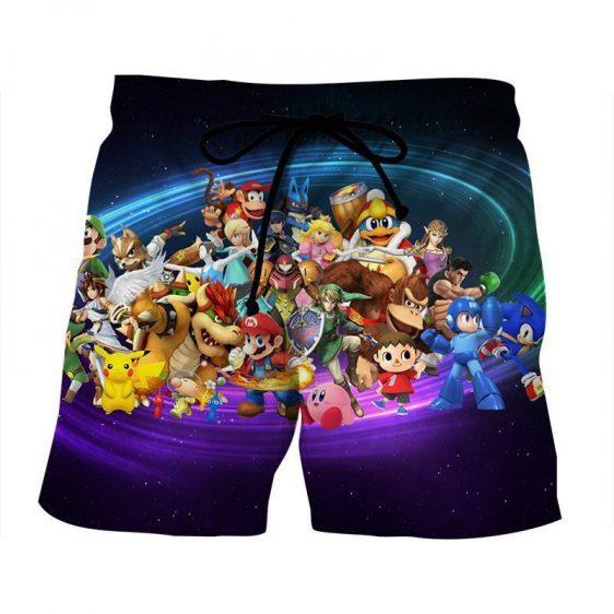 Nintendo Legend Characters Mario Samus Zelda Gaming Shorts