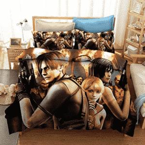 Resident Evil Badass Leon S Kennedy Ada Wong Bedding Set