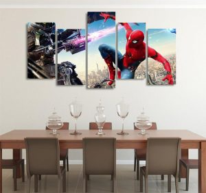 Spider-Man Homecoming With Vulture & Iron Man 5pcs Canvas