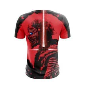 Star Wars Villain Kylo Ren Red Crossguard Lightsaber T-Shirt