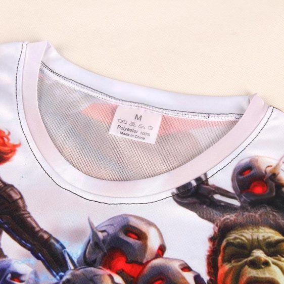 The Avengers Age of Ultron Historic Battle Impressive 3D Print T-shirt