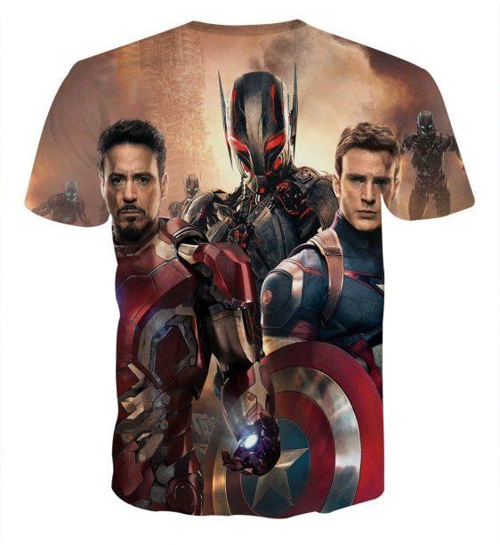 The Avengers Captain America Iron Man Ultron Dope 3D T-Shirt