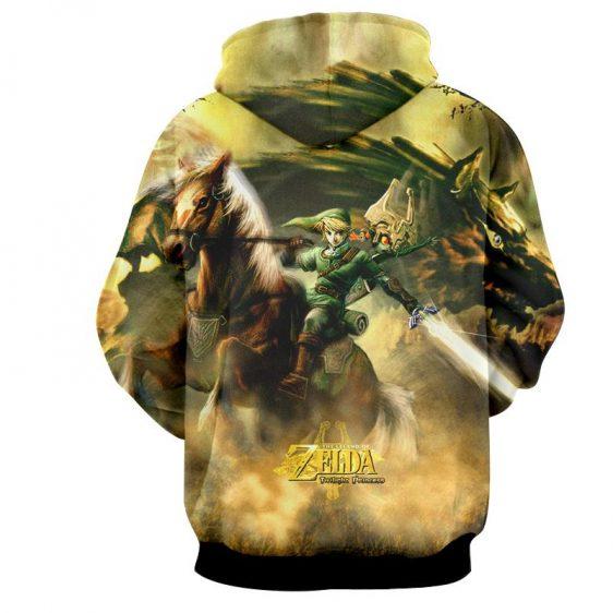 The Legend Of Zelda Impressive Link Fighting Bravely Hoodie