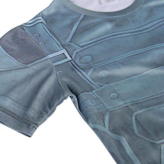 The Winter Soldier Marvel Superhero Modern Design Workout T-shirt