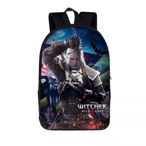 The Witcher 3 Wild Hunt Geralt Fiery Fighting Backpack Bag