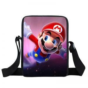 Super Mario Galaxy Pink Space Flying Mario Cross Body Bag