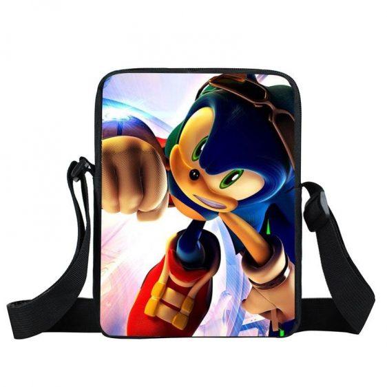 Sonic The Hedgehog Running With Sunglasses Cross Body Bag