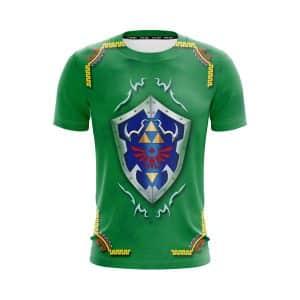 The Legend Of Zelda Hylian Shield Artistic Green T-Shirt