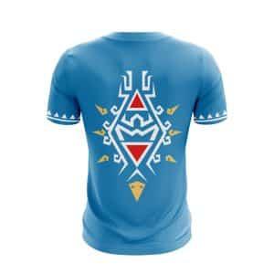The Legend Of Zelda Link's Cape Design Stylish Blue T-Shirt