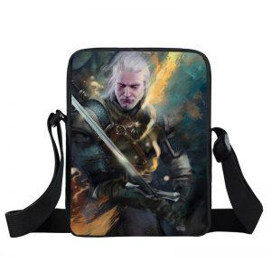 The Witcher 3 Wild Hunt Geralt Sword Fighting Cross Body Bag