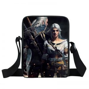 The Witcher 3 Ciri and Geralt Forest Leshen Cross Body Bag